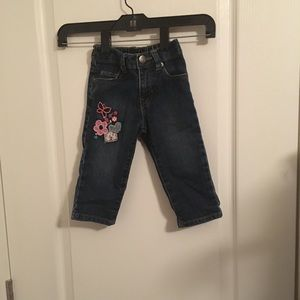 Girls 12-18 month Jean with embroidery detail
